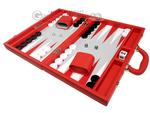 16-inch Premium Backgammon Set - Red