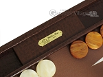 Hector Saxe Faux Lizard Backgammon Set - Brown