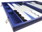 19-inch Premium Backgammon Set - Indigo Blue