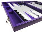 19-inch Premium Backgammon Set - Purple