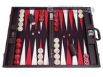 Wycliffe Brothers® 24-inch Backgammon Set with 2-inch Checkers - Brown Case with Brown Field - Club Class