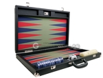 Wycliffe Brothers® 24-inch Backgammon Set with 2-inch Checkers - Black Case with Iguana Field - Club Class