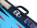 Wycliffe Brothers® 24-inch Backgammon Set with 2-inch Checkers - Blue Case with Light Blue Field - Club Class