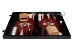 15-inch Black Backgammon Set - Red Field