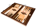 15-inch Walnut and Oak Backgammon Set - Brown