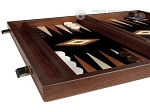 15-inch Wenge Backgammon Set - Black Field