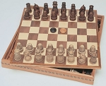 Medieval Chess / Checkers Combination Set