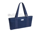 Metro Mah Jongg Set - White Tiles - All-In-One Rack/Pushers - Blue Canvas Bag