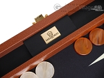 Zaza & Sacci® Leather/Microfiber Backgammon Set - Model ZS-305 - Small - Brown