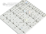 Double 6 Swarovski Crystal White Dominoes Set - White Croco Case