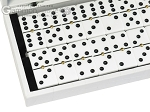 Double 6 Dominoes Set - White Croco Case
