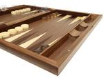 19-inch Wood Backgammon Set - Walnut Inlay