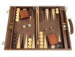 15-inch Wood Backgammon Set - Walnut Burl