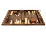 19 in. Wood Backgammon Set - Diamond Inlay