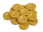 Backgammon Checkers - Opaque - Amber - with Finger Dish - (1 3/4 in. Dia.) - Roll of 15