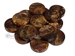 Backgammon Checkers - Marbleized - Brown - (1 3/4 in. Dia.) - Roll of 15