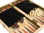 16-inch Combination Backgammon / Chess Set - with latch