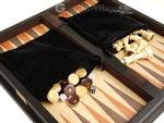 16-inch Combination Backgammon / Chess Set - Zebrawood