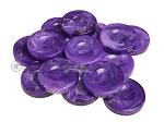 Backgammon Checkers - Marbleized - Purple - with Finger Dish - (1 3/4 in. Dia.) - Roll of 15