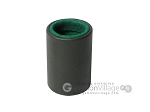 Professional Leather Backgammon Dice Cup - Round - Green Felt