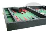 Zaza & Sacci® Leather/Microfiber Backgammon Set - Model ZS-305 - Small - Black