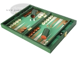 Zaza & Sacci® Leather/Microfiber Backgammon Set - Model ZS-305 - Small - Green