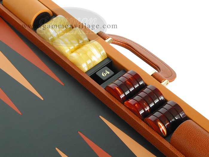 Zaza Sacci Leather Backgammon Set Model Zs 888 Large